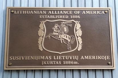 Plaque For Lithuanian Alliance of America