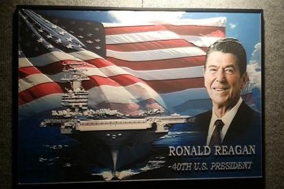 Memorial Plaque For Ronald Reagan