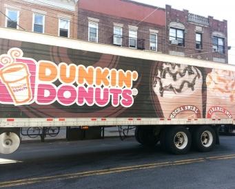 Dunkin Truck Wraps