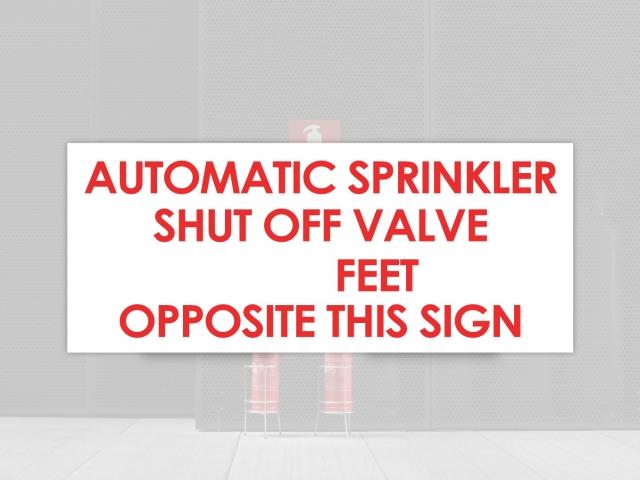 automatic sprinkler shut off sign