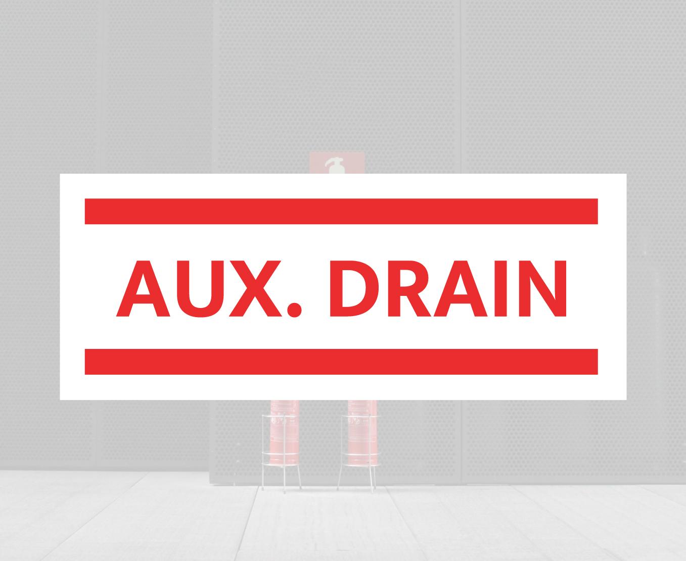 AUX Drain Sign