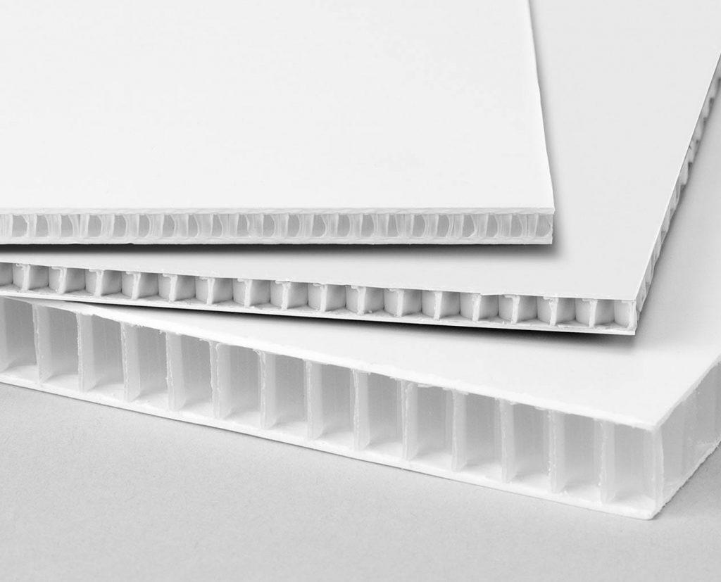 blank white plastic sheet