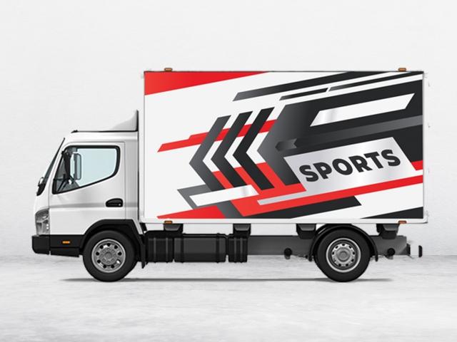 box partial truck wraps