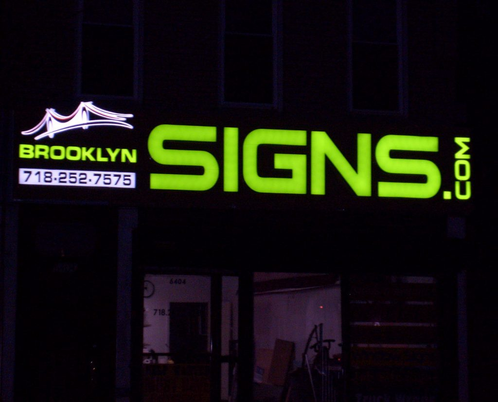 brooklyn signs face lit channel letters