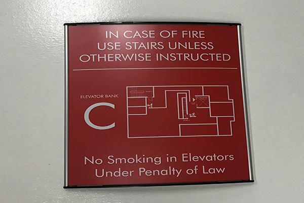 floor egress map sign