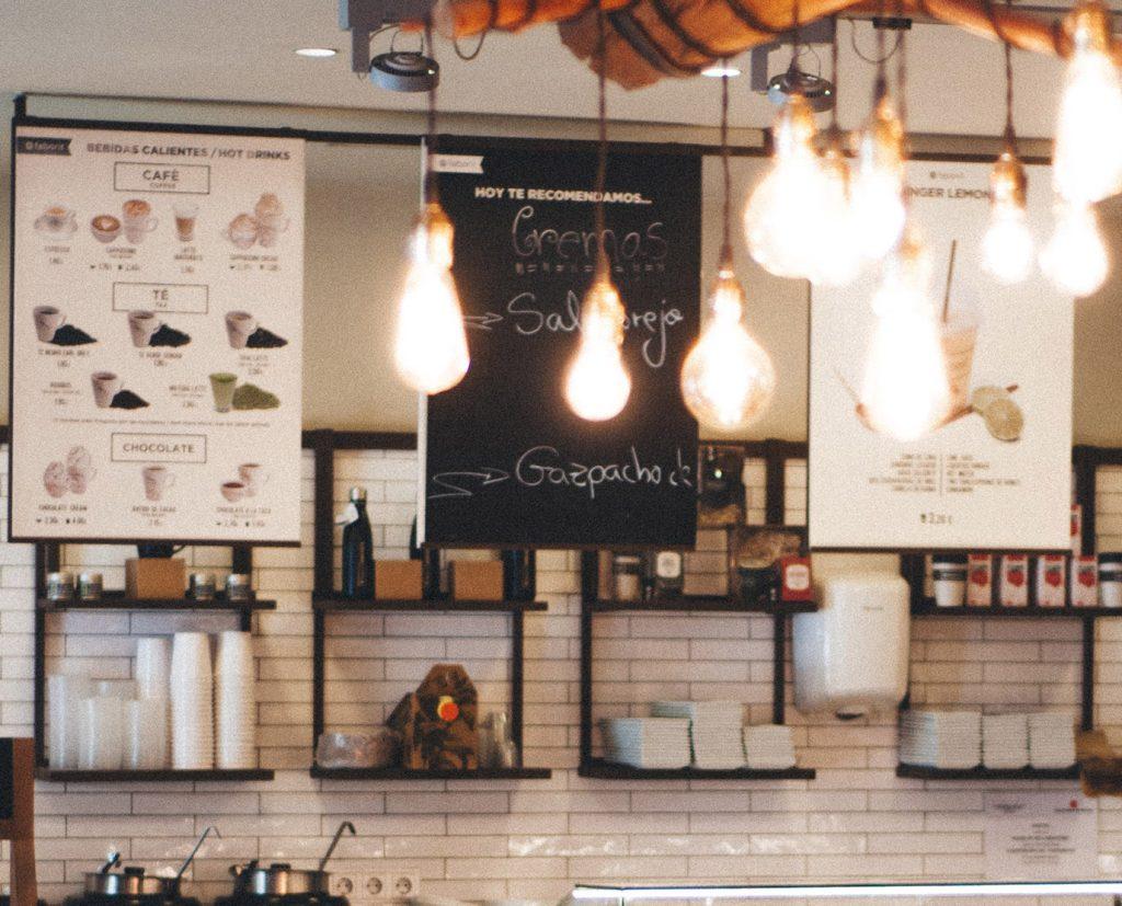 cafe magnetic menu