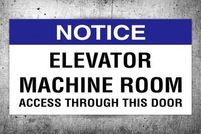 Access Notice Sign Penal