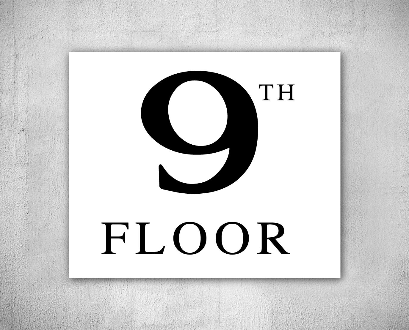 custom floor number signs