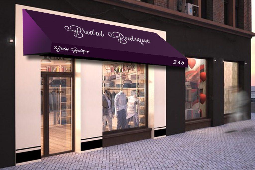 custom storefront awnings