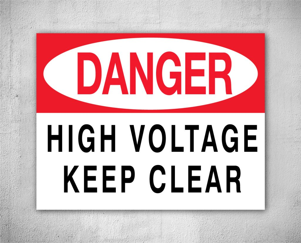 danger high voltage keep clear safety sign