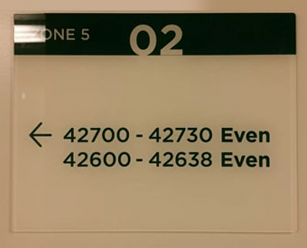 directional acrylic signs