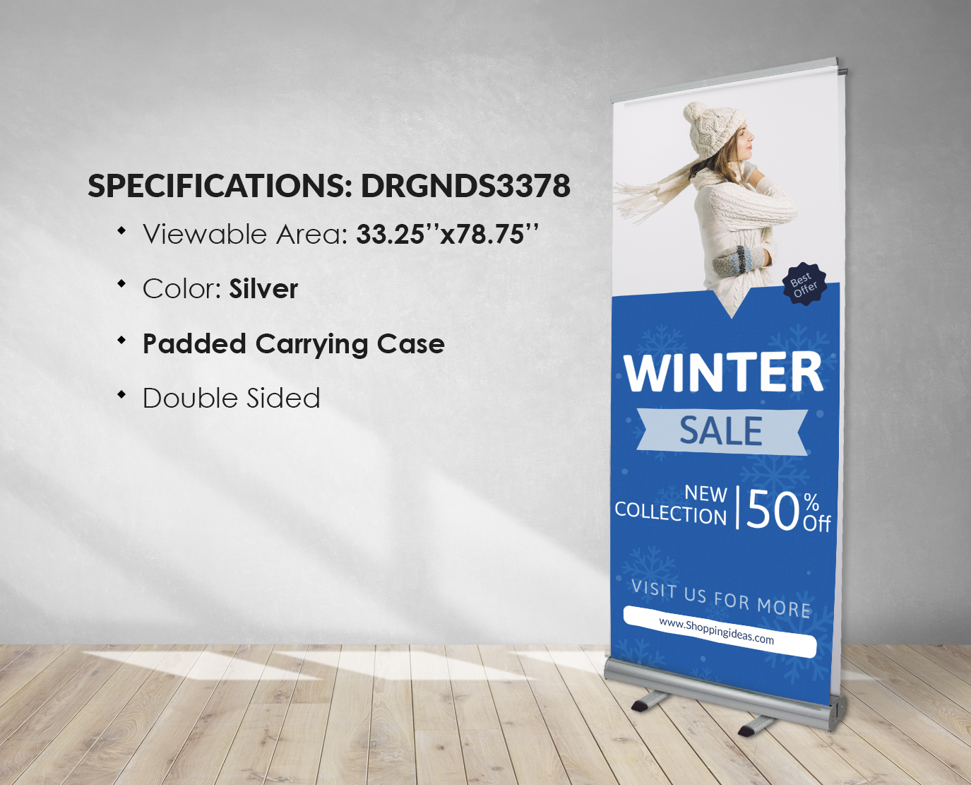 double side graphics banner stands