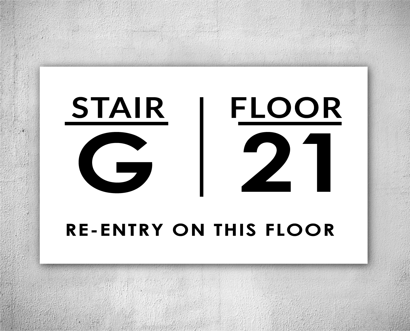 floor number and stair sign