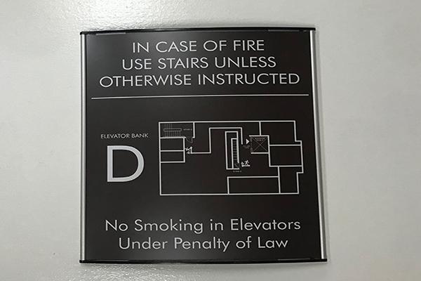floor number egress map sign
