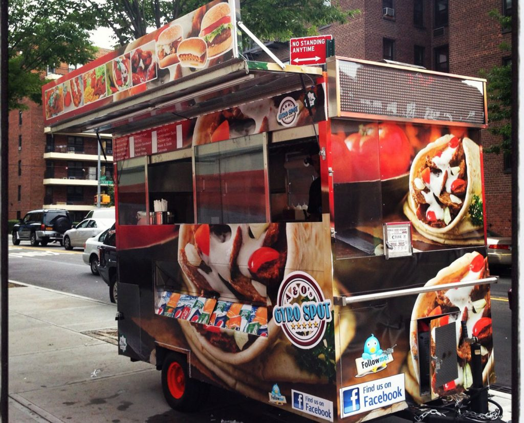 food cart wrapping services
