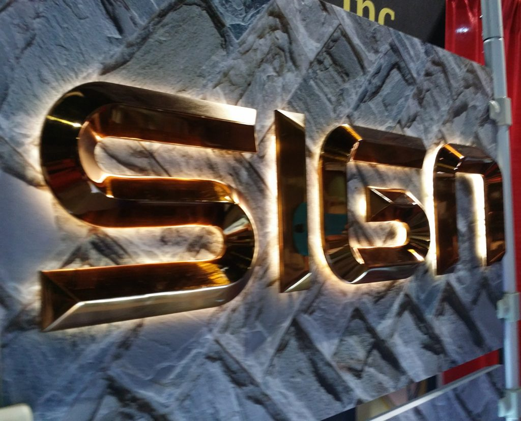 lighted channel letters sign