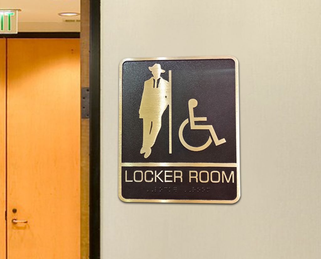 locker room ada sign