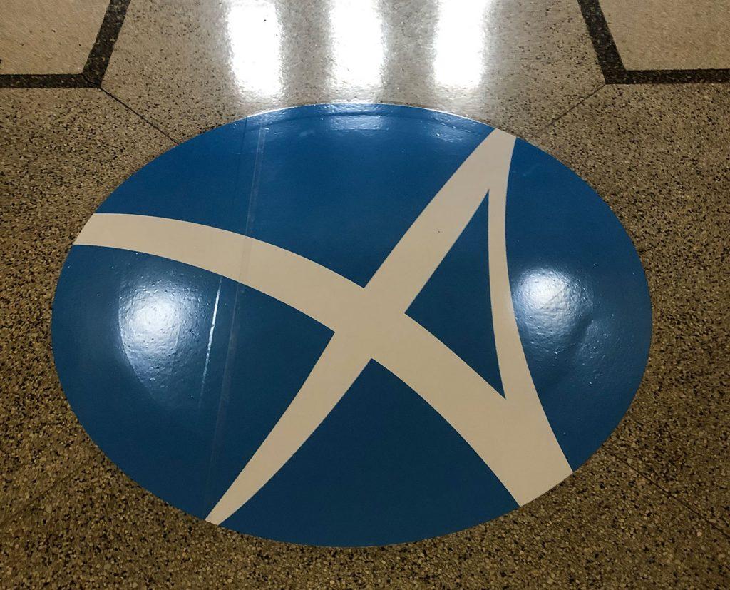 logo floor decals