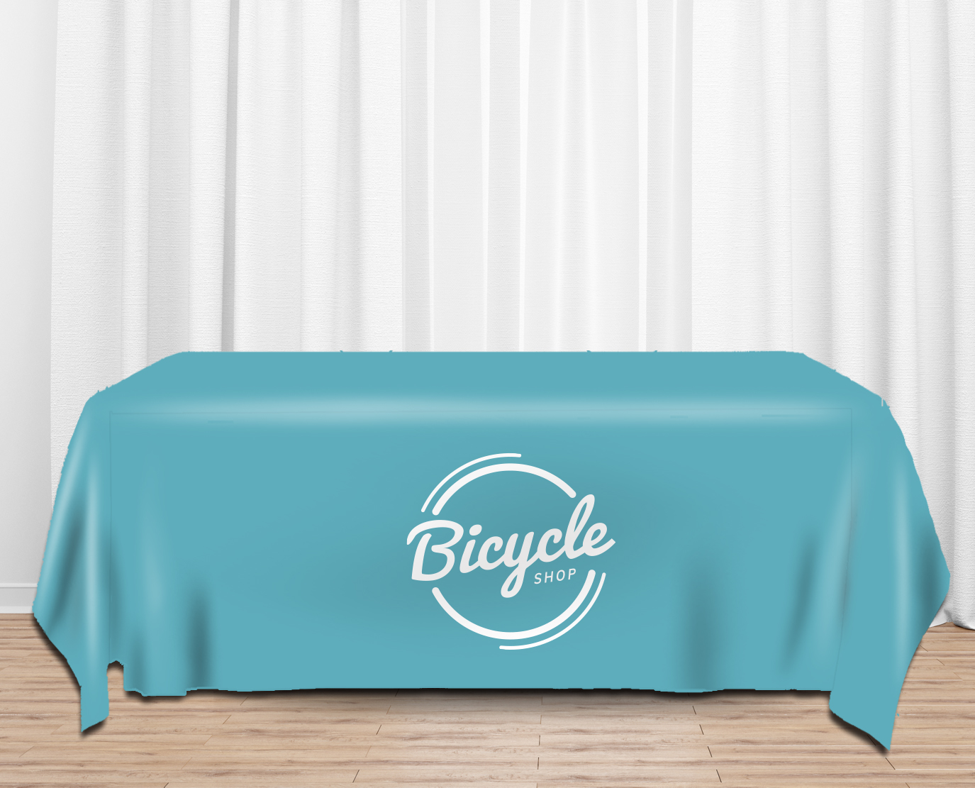 logo printed table cover