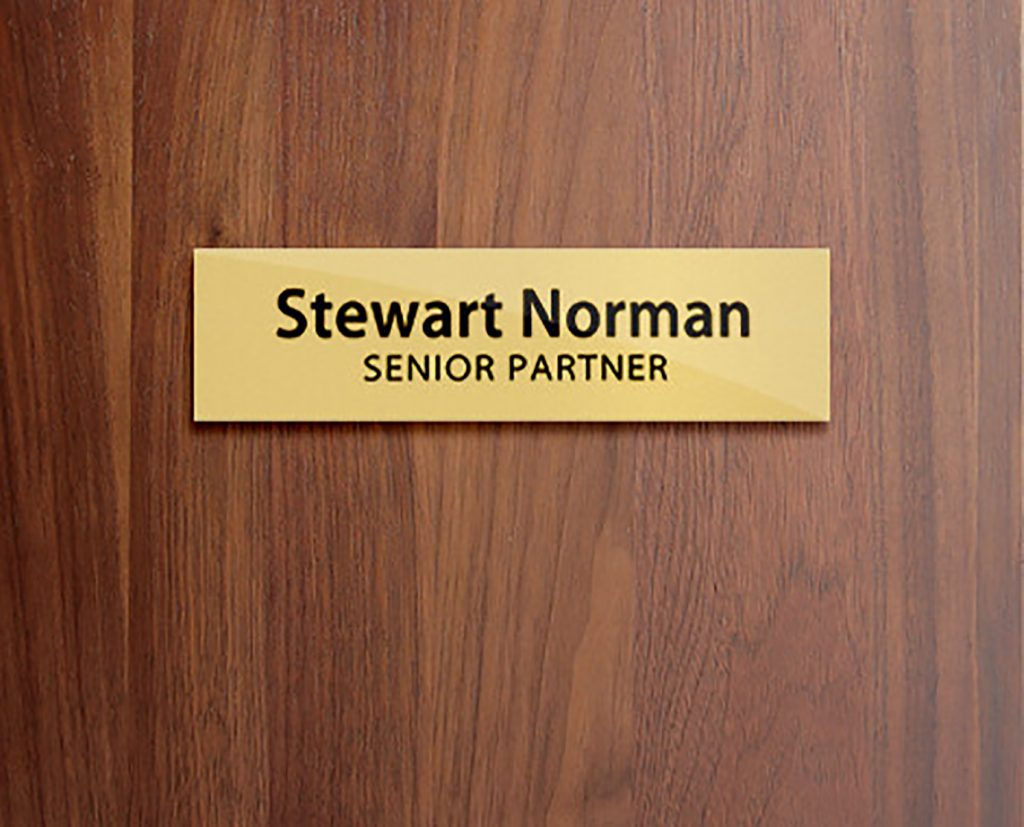 nameplate sign
