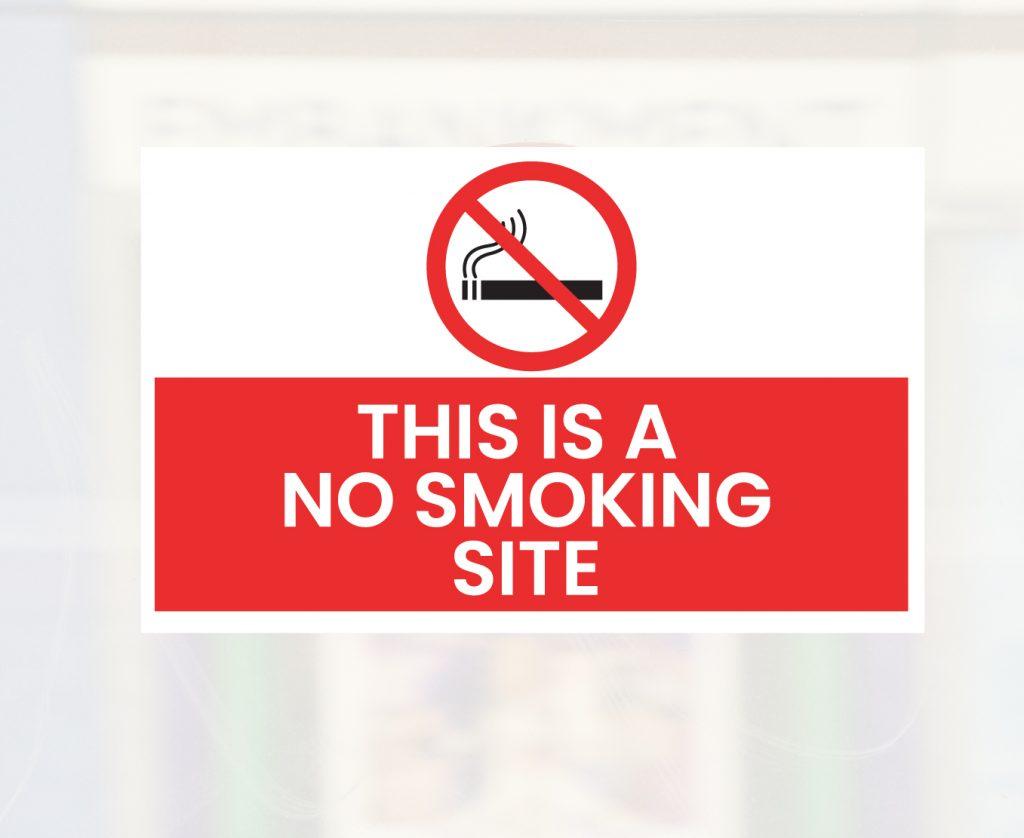 no smoking building site sign