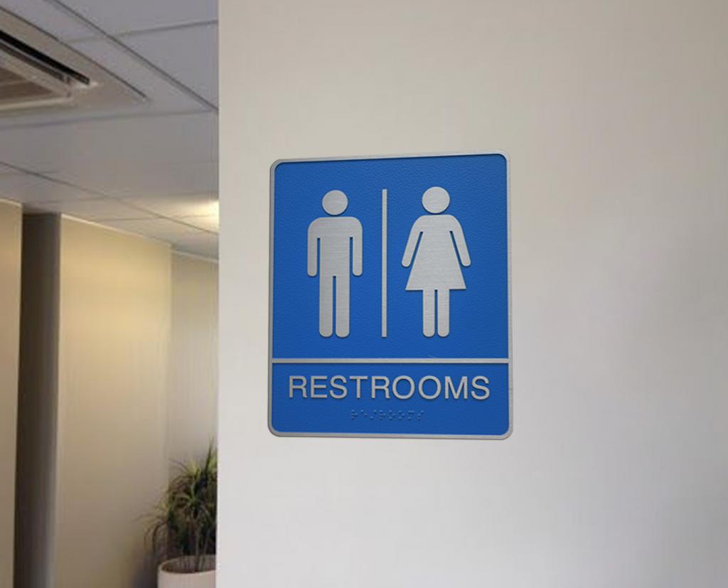 restroom nameplate ada sign