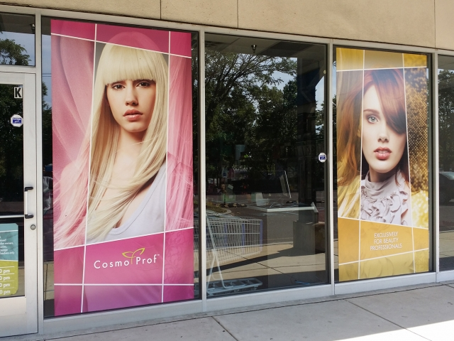 shopping mall window wraps