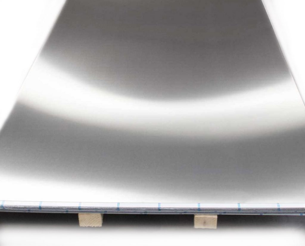 silver aluminum sheet
