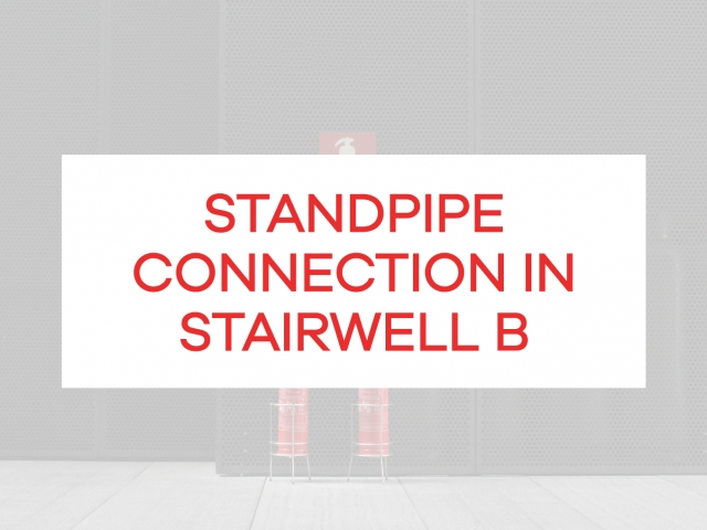 standpipe connection in stairwell
