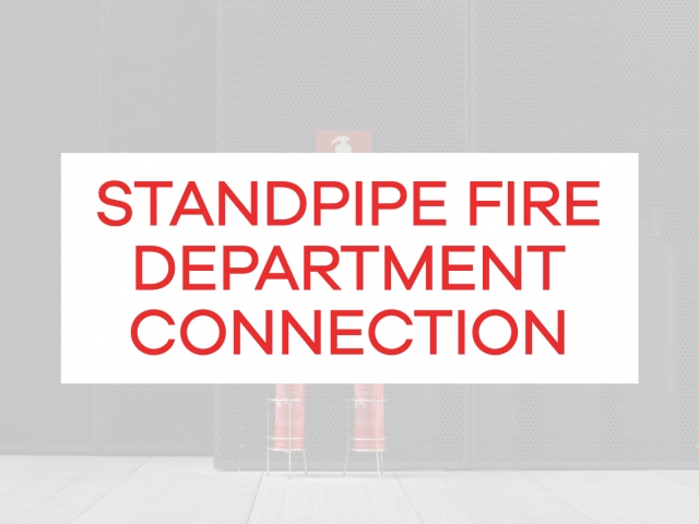 standpipe fire department connection