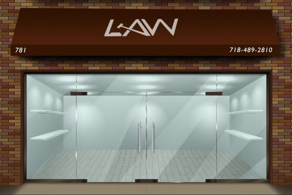 storefront roll up retractable awning