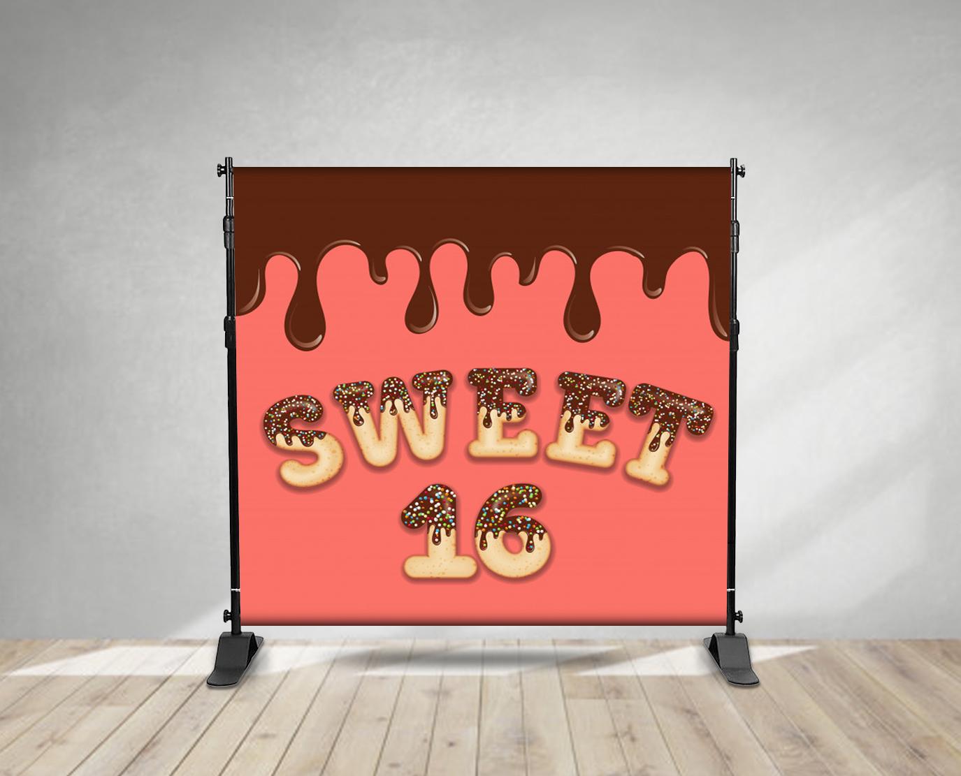 sweet 16 backdrop