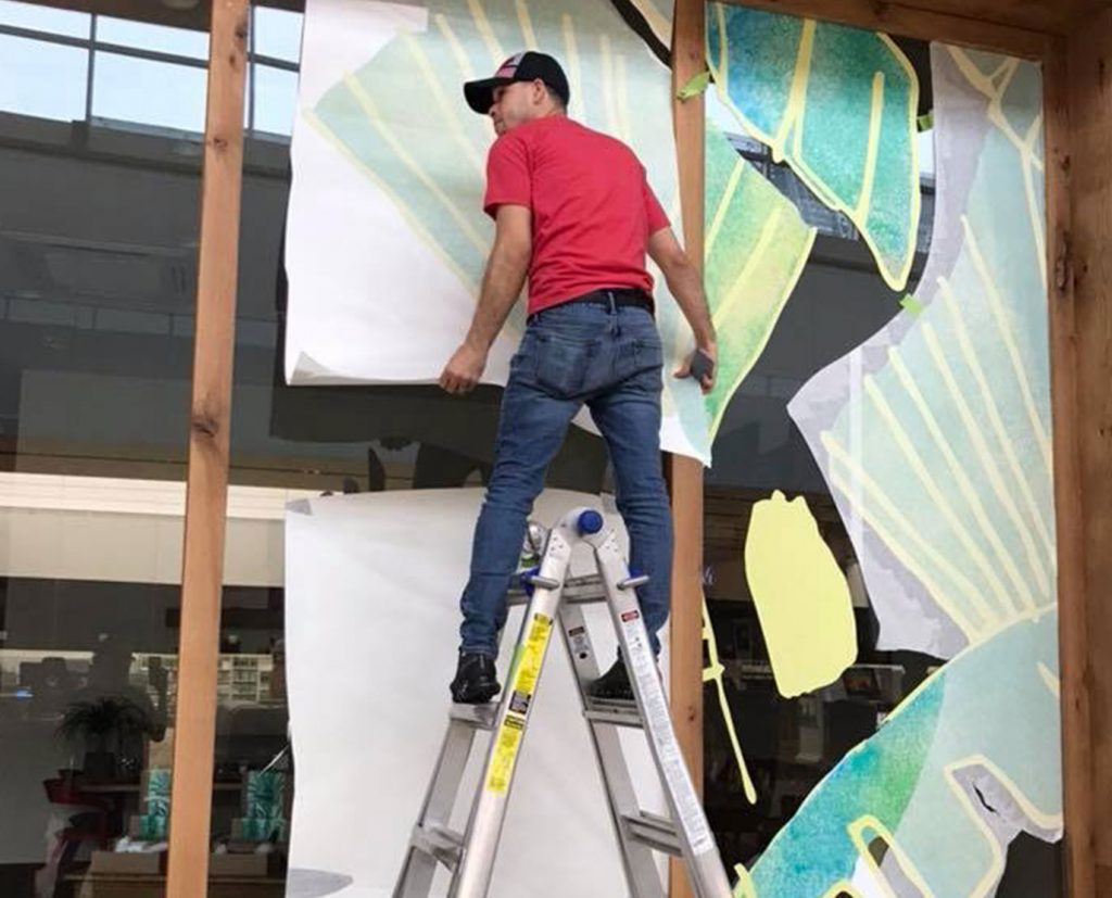vinyl window decals installations