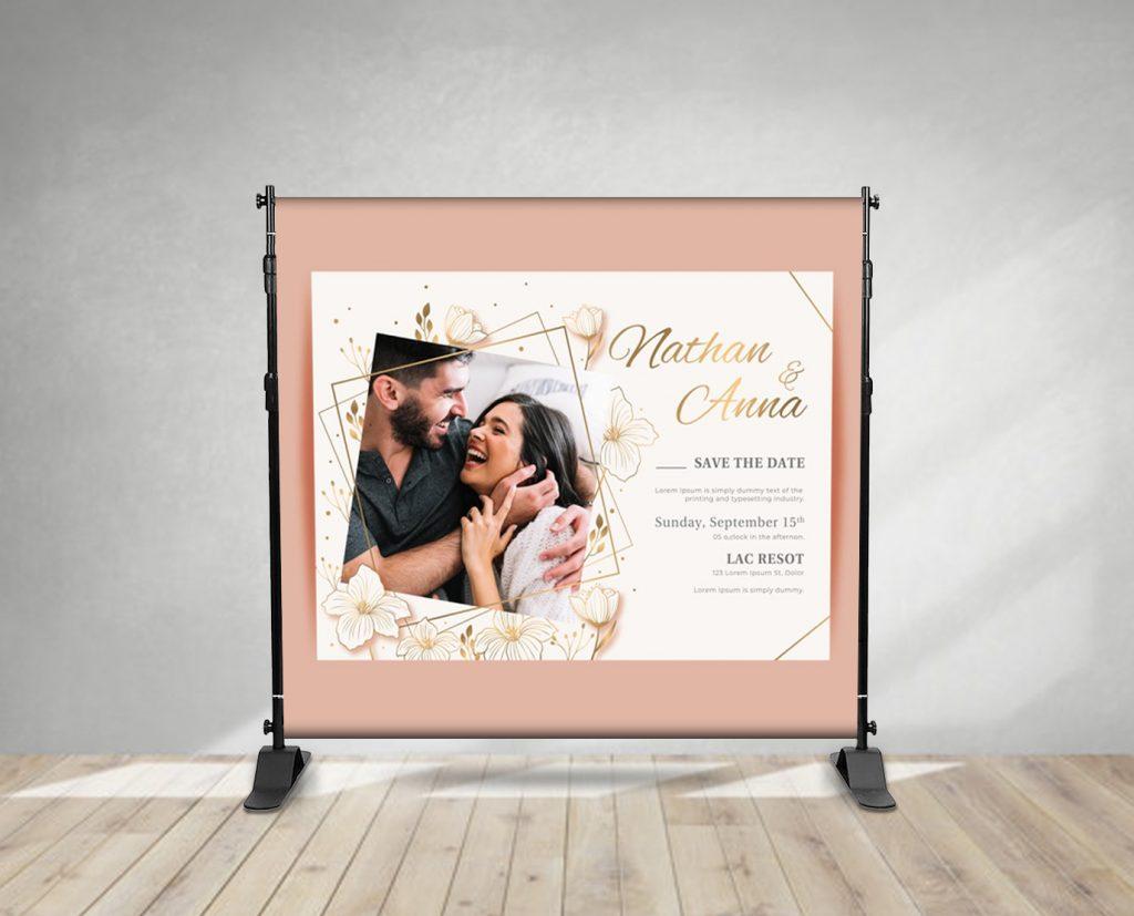 wedding event backdrop