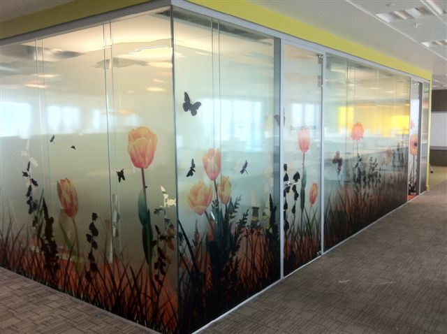Printed Office Window Frosting