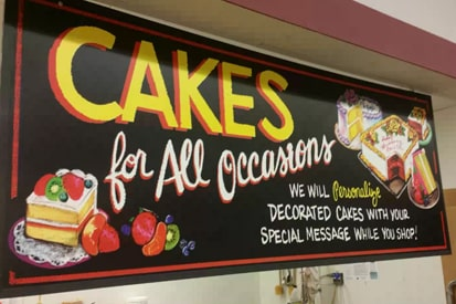 Aluminum Sign For Bakery Shop