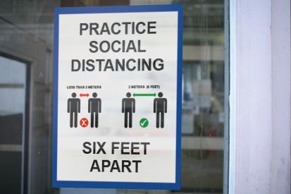 Covid-19 Social Distanc Sign