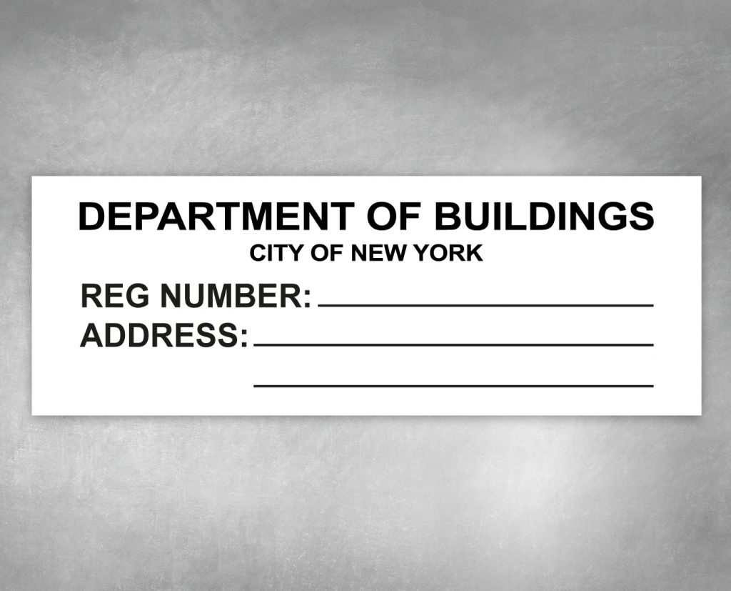 department of buildings hpd sign