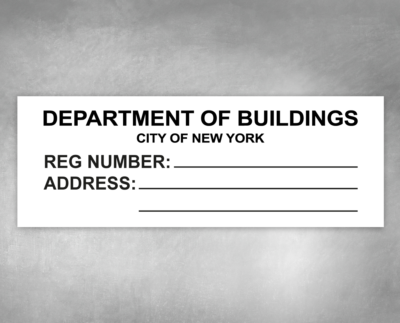 department of buildings sign