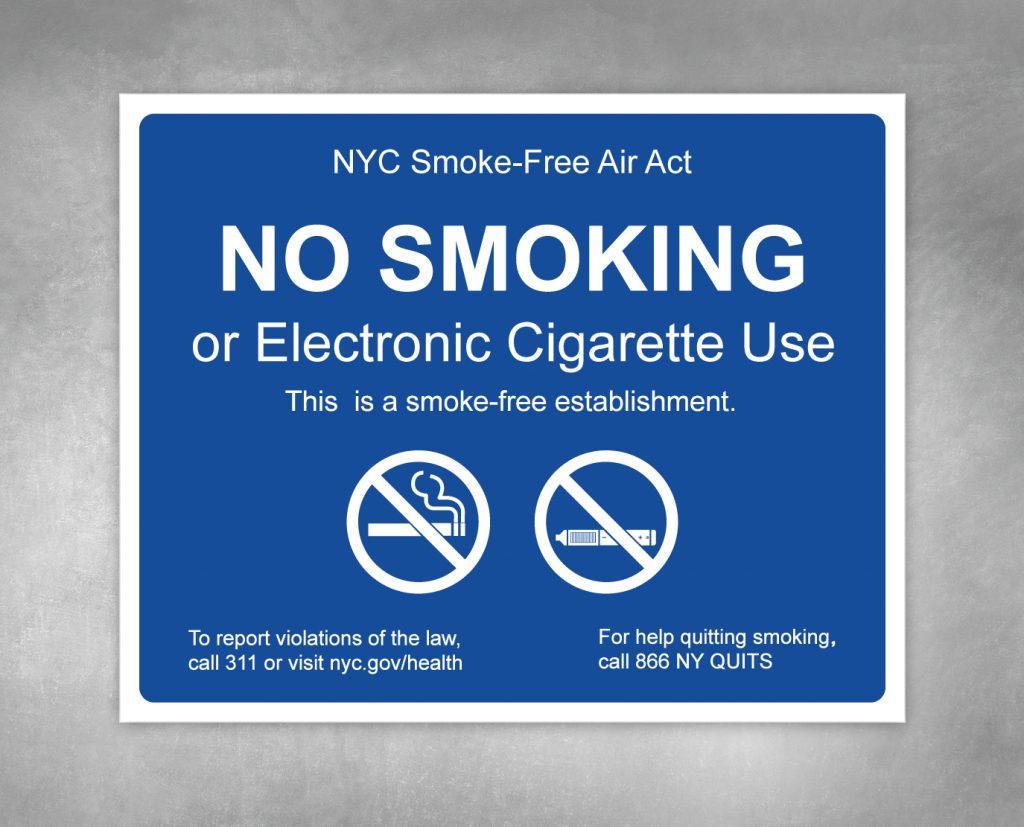no smoking building sign