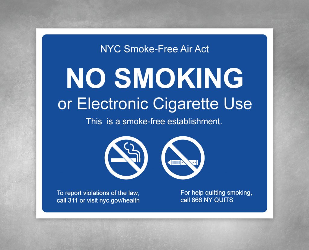 no smoking hpd sign