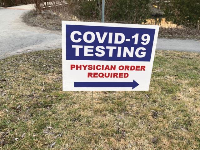 Covid Testing Board Sign