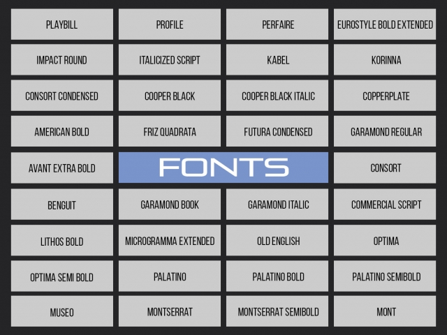 Wide Range Of Fonts