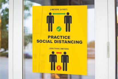 Social Distancing Window Decals