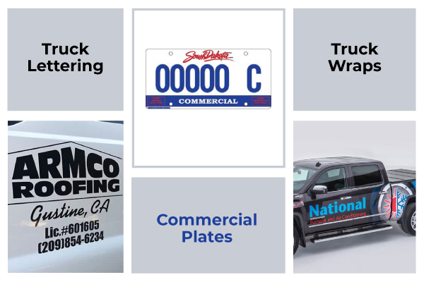 How to Avoid a Ticket and Announce Your Business with Commercial Plates and Lettering on Both Vehicle Doors