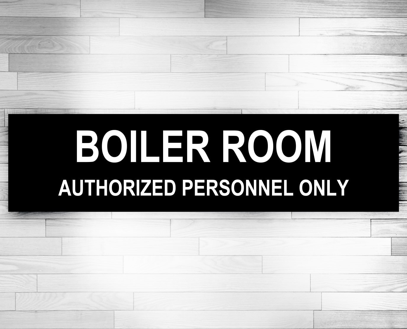 boiler room door signs