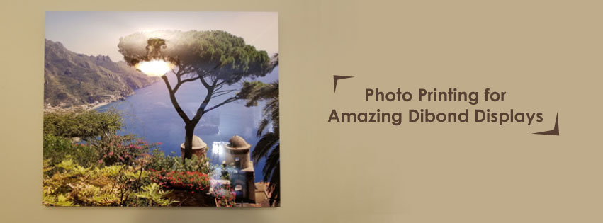 dibond photo printing display