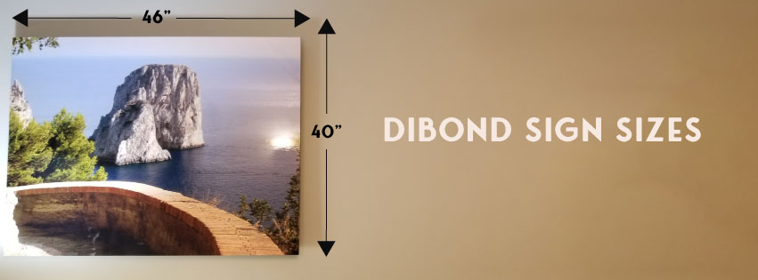 dibond sign size