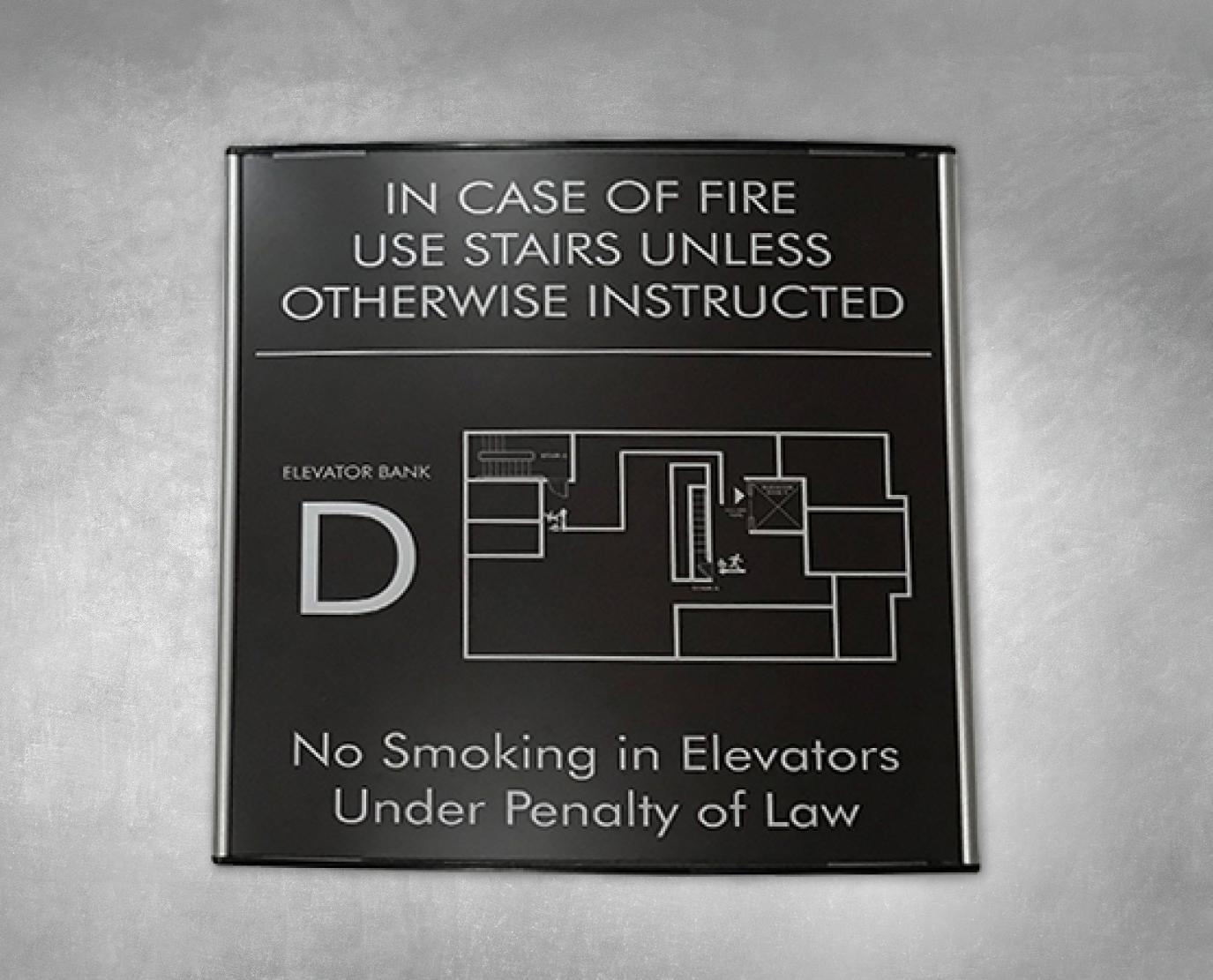 building sign egress map