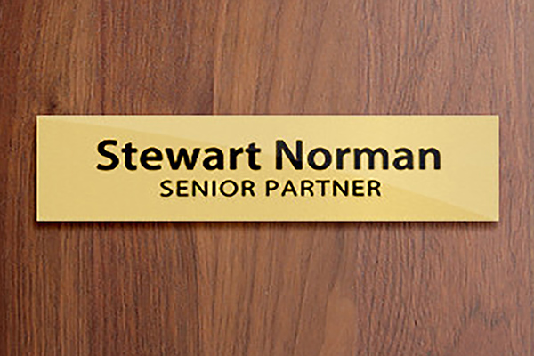 nameplate signs